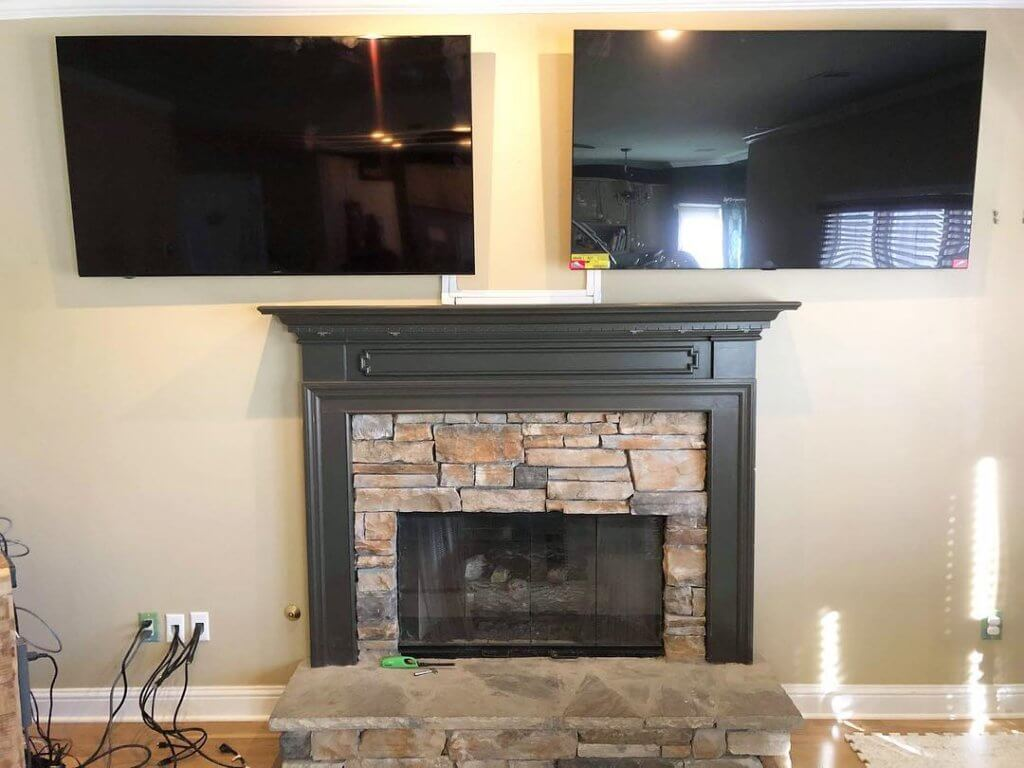 2 TV MOUNTING above fireplace in Alpharetta, GA