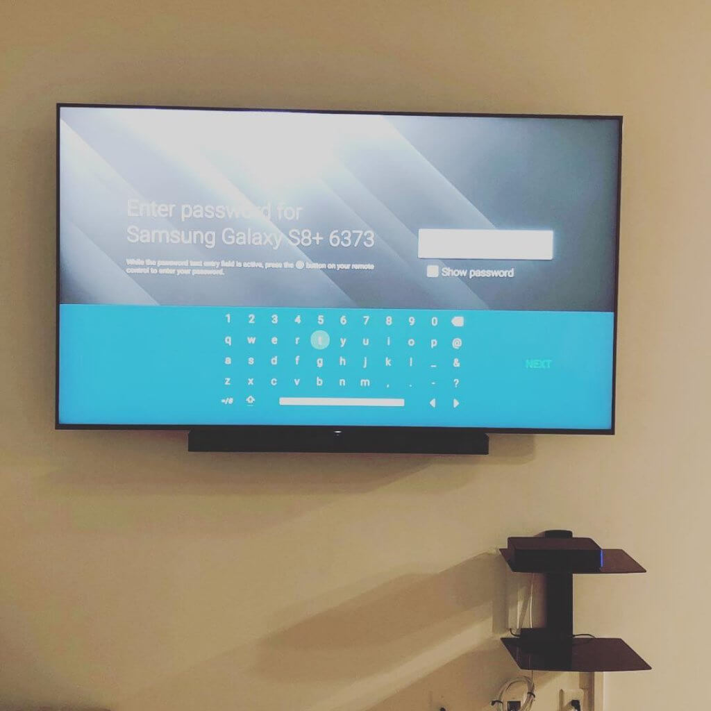 TV MOUNTING above fireplace in Sandy Springs, GA